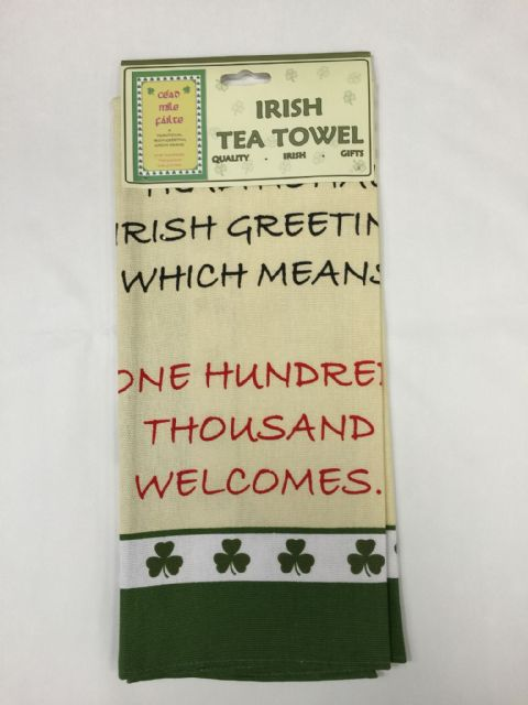 Liffey Artefacts Irish Tea Towels - Cead Mile Failte